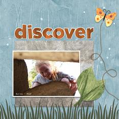 """Discover"" Digital Scrapbooking Layout by Cherise Oleson, using ScrapSimple Paper Templates: Painted Collage, Set 1"