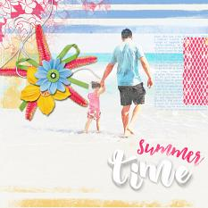 summer layout by Angie Briggs using Modern White Alpha