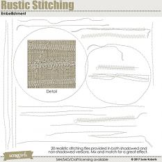 Rustic Stitching Embellishment Prev
