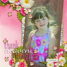 Scrapbook Page using Spring Mix 1 Templates by Vikki Lamar
