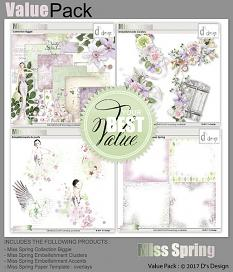 value pack miss spring by d's design