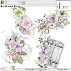 miss spring embellishment clusters by d's design