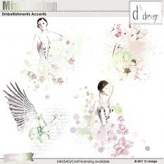 miss spring embellishment accents by d's design