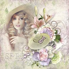layout using miss spring value pack by d's design
