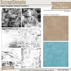 ScrapSimple Paper Templates: Textured Overlays 5 Prev