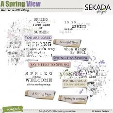 A Spring View Word Art and Word Tag