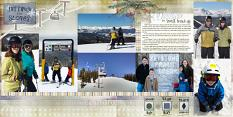 Layout using Layout using ScrapSimple Digital Layout Album Templates: 12x12 Photo Book 6