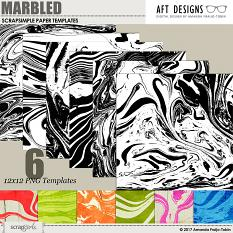 ScrapSimple Paper Templates: Marbled by AFT Designs | Amanda Fraijo-Tobin @ScrapGirls.com #scrapbook #background #templates