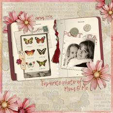 Layout using Vintage Mix Embellishment templates