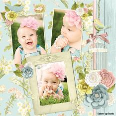 """Kambree - age 6 months"" digital scrapbook layout by Andrea Hutton uses:"