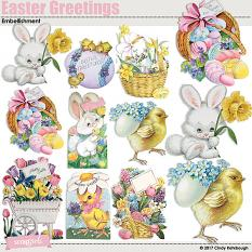 Easter Greetings Embellishment by Cindy Rohrbough