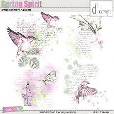 spring spirit embellishment accents by d's design