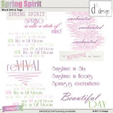 spring spirit word arts & tags by d's design