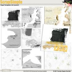 ScrapSimple Paper Templates: Art Journal 2