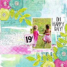 Digital Scrapbook Page using Art Journal Embellishment Templates