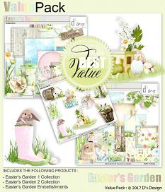 easter's garden value pack by d's design