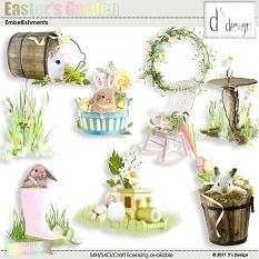 easter's garden embellishments by d's design
