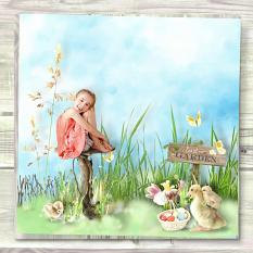 layout using easter's garden value pack by d's design
