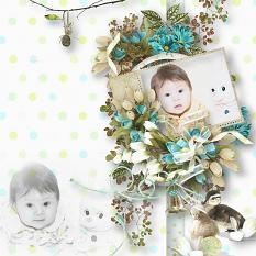 layout using joyful easter collection by d's design