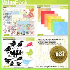 Make great savings by grabbing the Spring Tweets Value Pack by Jan Ransley