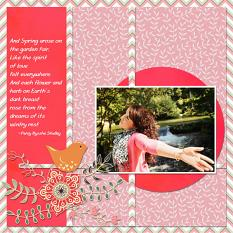 """And Spring Arose...."" digital layout by Jan Ransley uses the Spring Tweets Collection"