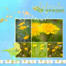 """Celebrate Spring"" digital layout by Jan Ransley uses the Spring Tweets Collection"
