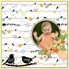 """Birdsong"" digital layout by Jan Ransley using Spring Tweets products"