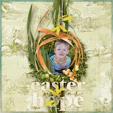 "Digital Scrapbooking Layout ""Easter Means Hope"" by Amanda Fraijo-Tobin (see supply list with links below)"