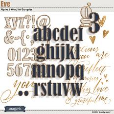 Eve Collection Biggie Alpha & Word Art by Brandy Murry (Included)