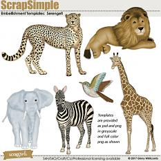 ScrapSimple Embellishment Templates:  Serengeti