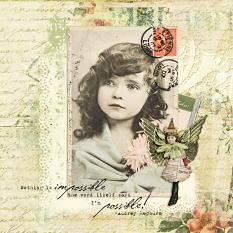 Digital Layout using Collage Art 1 Embellishments
