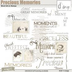 precious memories word arts & stamps by d's design
