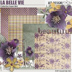 La Belle Vie #digitalscrapbooking Mini Kit by AFT designs - Amanda Fraijo-Tobin @ScrapGirls.com