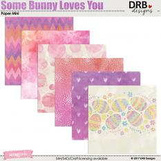 Some Bunny Loves You Paper Mini by DRB Designs | ScrapGirls.com