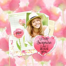 Scrapbook Page using Pretty Poppy Digital Kit