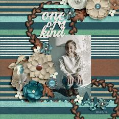 """AJ"" digital scrapbook layout by Darryl Beers"