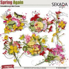 Spring Again Embellishment Mini Cluster