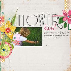 Flowe Hunt Spring digital scrapbooking layout idea by Amanda Fraijo-Tobin AFT Designs @Scrapgirls.com
