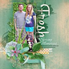 Fresh Spring digital scrapbooking layout sample by Amanda Fraijo-Tobin using All Spring Photo Masks | www.aftdesigns.net #scrapbook #layout #digiscrap #photoediting #memorybook
