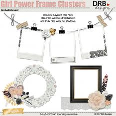 Girl Power Frame Clusters by DRB Designs | ScrapGirls.com