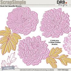 ScrapSimple Brush Set: Beautiful Blooms | ScrapGirls.com