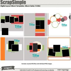 ScrapSimple Digital Layout Templates: Album Series 15