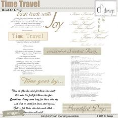time travel word arts and tags by d's design