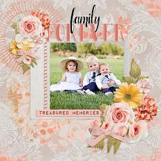 """Family Forver"" digital scrapbook layout by Andrea-Rose Hutton"