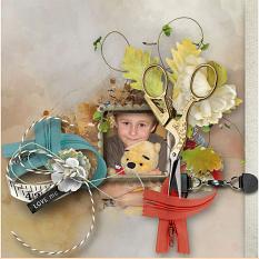 family layout using Atelier CoutureValue Pack by Florju Designs