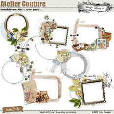 Atelier Couture Embellishment Clusters 1 by Florju Designs