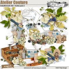 Atelier Couture Embellishment Clusters 2 by Florju Designs