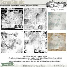 ScrapSimple Paper Template - Dream by Florju Designs