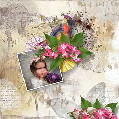layout using Easter Stories Collection by Florju Designs