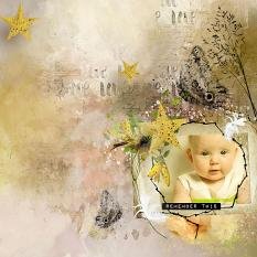 layout using Easter Stories Embellishment Clusters Pack 1 by Florju Designs